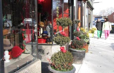 A storefront on Centre Street was decorated for the season.